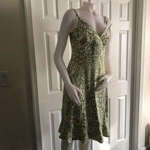Ann Taylor Loft Green Summer Dress 6